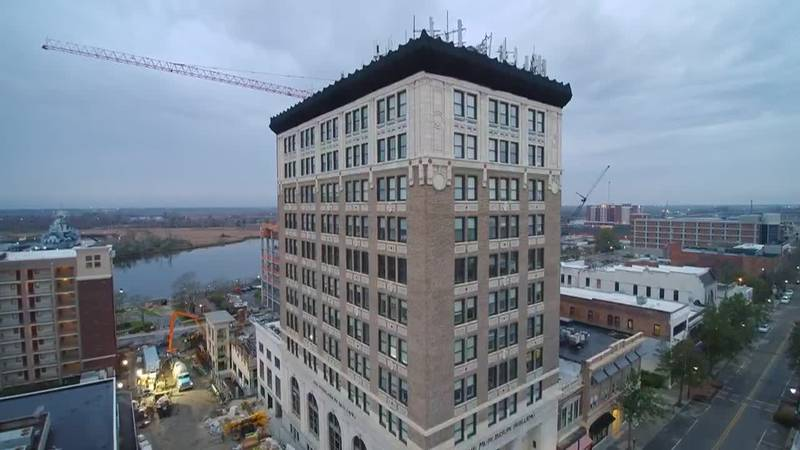 SKY TRACKER: A view of the Murchinson Building