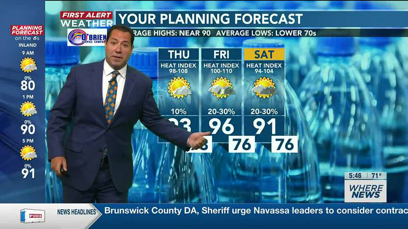 Your First Alert Forecast from Thu. morning, July 29, 2021...
