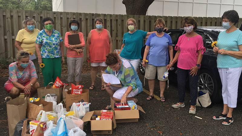 The Wilmington Woman's Club held a drive-by donations event over the summer to help local...