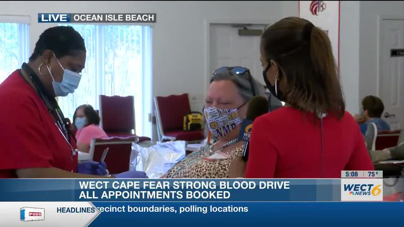Cape Fear Strong Blood Drive held to honor first responders, tornado victims