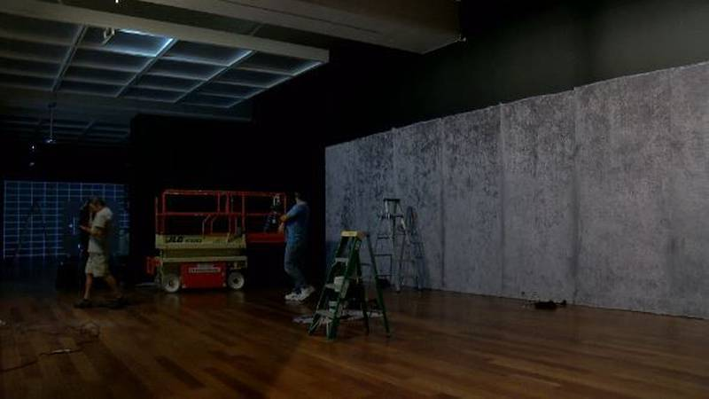 Final touches are being made to an interactive room in the Cameron Art Museum. (Source: WECT)