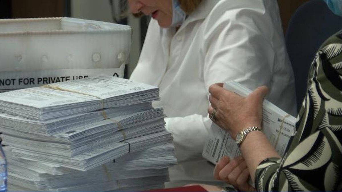 Mecklenburg County Board of Elections processing thousands of absentee ballots.