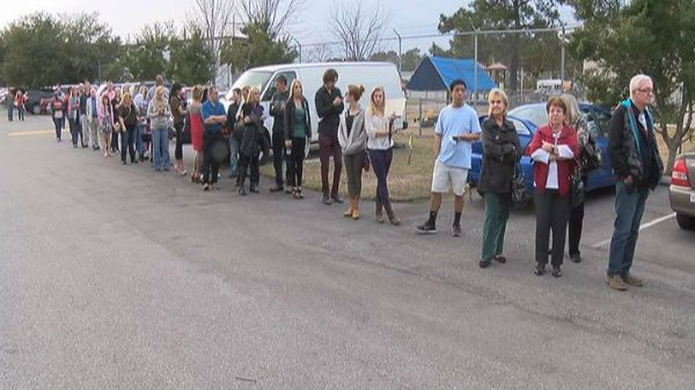 Hundreds of hopefuls stood in line for their chance to score a part in Under the Dome.