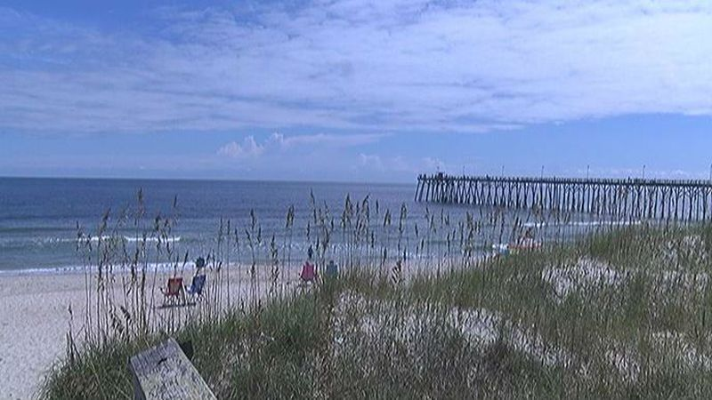 No signs of any hurricanes at the sunny Kure Beach today. Good news! (Source: WECT)