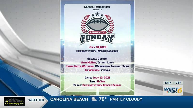 NFL player, West Bladen alum hosts community funday