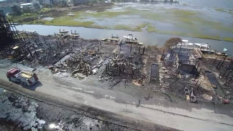 SKY TRACKER: Aftermath of a massive fire in Surf City