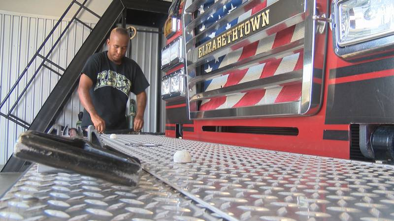 Maliek Huff is just starting out as a volunteer fire fighter for the Elizabethtown Fire...