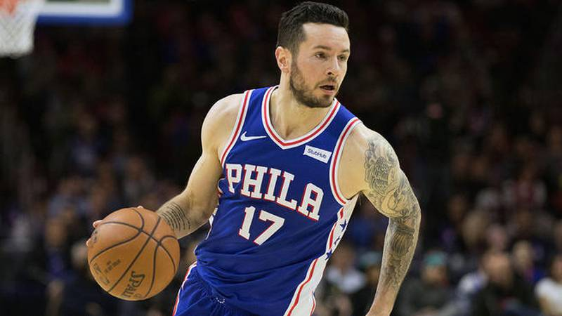 J.J. Redick during his tenure with the Philadelphia 76ers