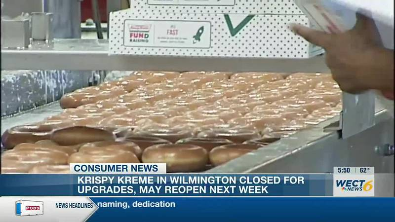 Expect a 'trick' and a 'treat' from Wilmington's Krispy Kreme very soon