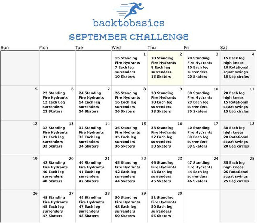 Get Fit with 6: September Challenge