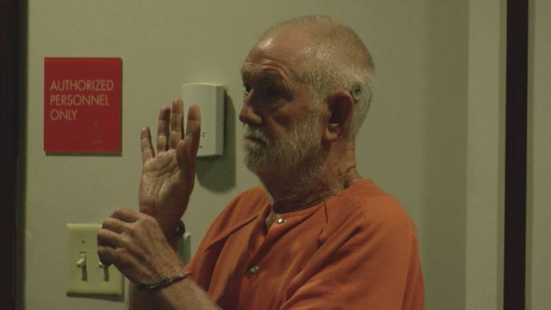 Phillip Brock during his first court appearance after he was charged with his wife's murder....