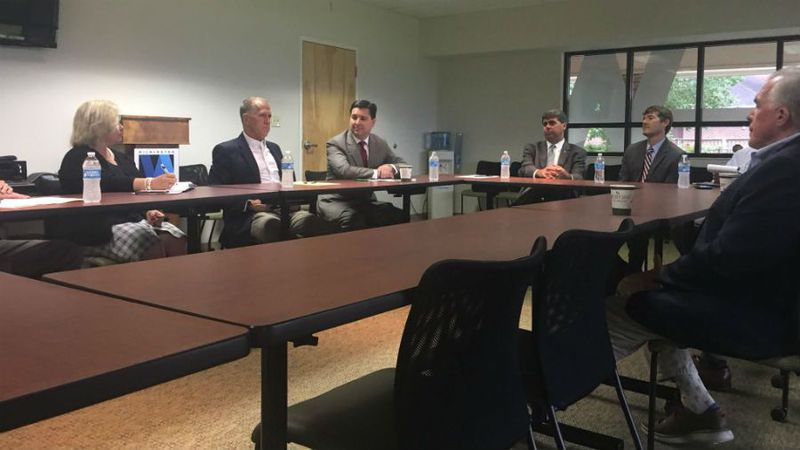 Sen. Thom Tillis and Rep. David Rouzer are in Wilmington to discuss the Tax Cuts and Jobs Act...