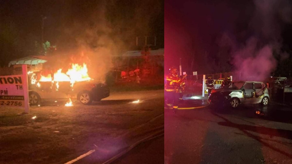 Leland Fire/Rescue respond to vehicle fire, discover fake grenade