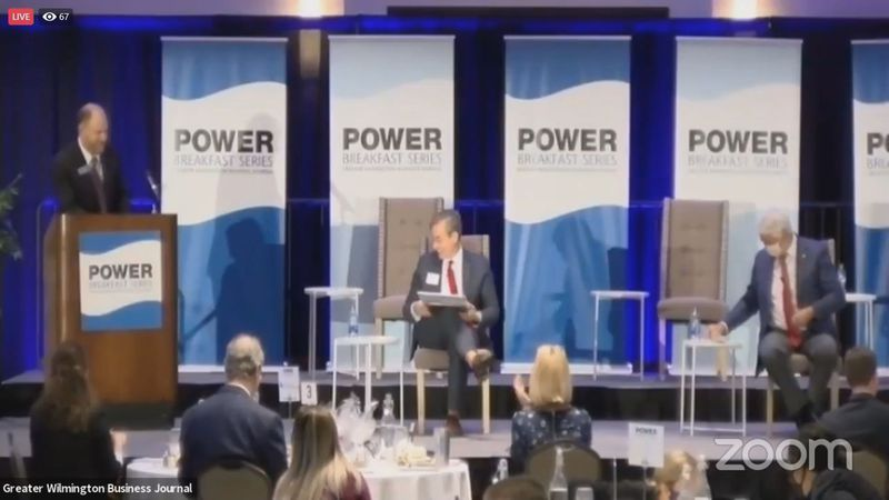 Candidates discussed a variety of topics at a power breakfast.