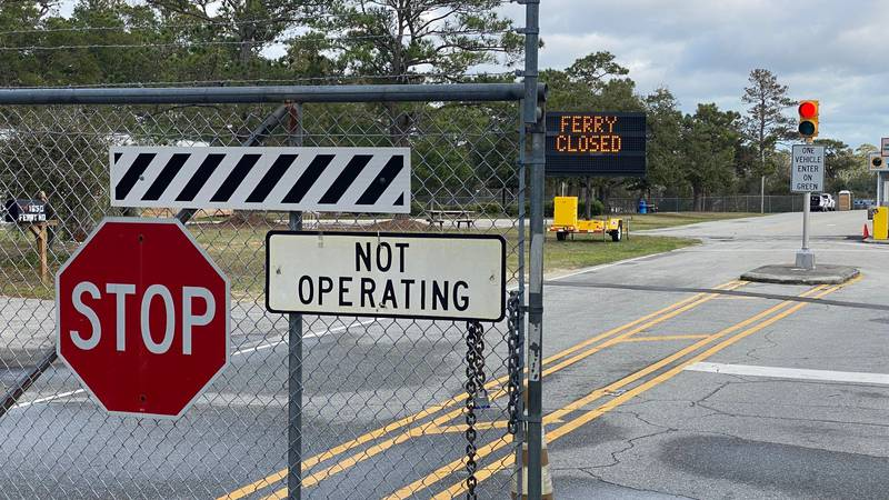 A ramp overhaul is underway on the Fort Fisher Southport ferry line