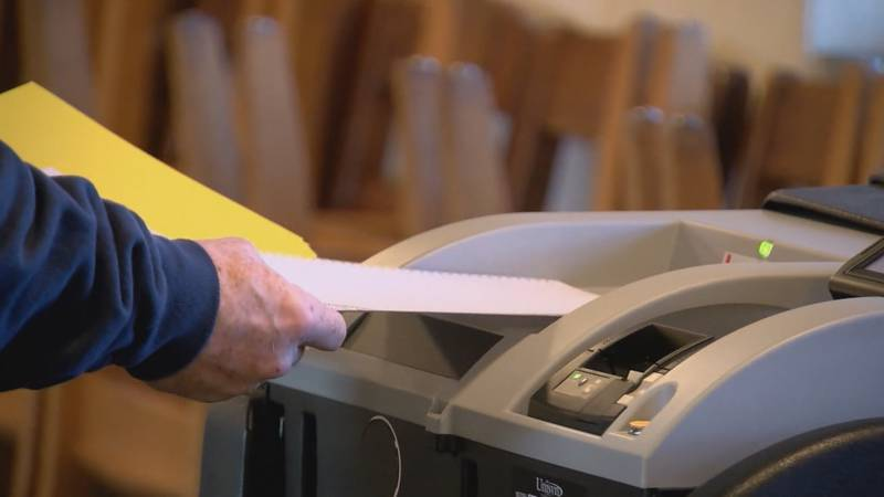 A voter casts their ballot. Virginia has seen more than four times as many early voters in 2020...