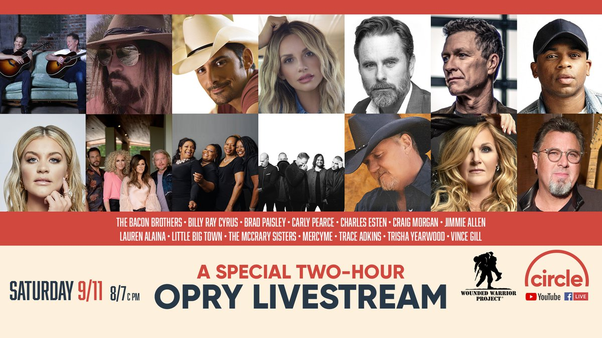 The Grand Ole Opry is livestreaming a two-hour special tonight to commemorate the 20th...