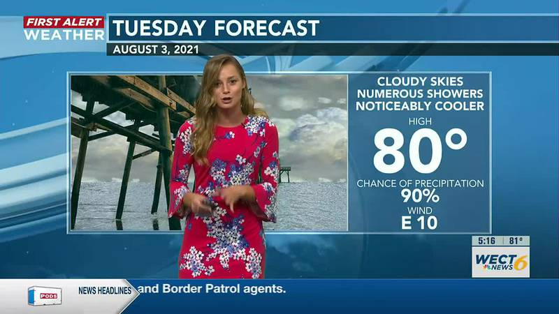 Wet days ahead for SE NC