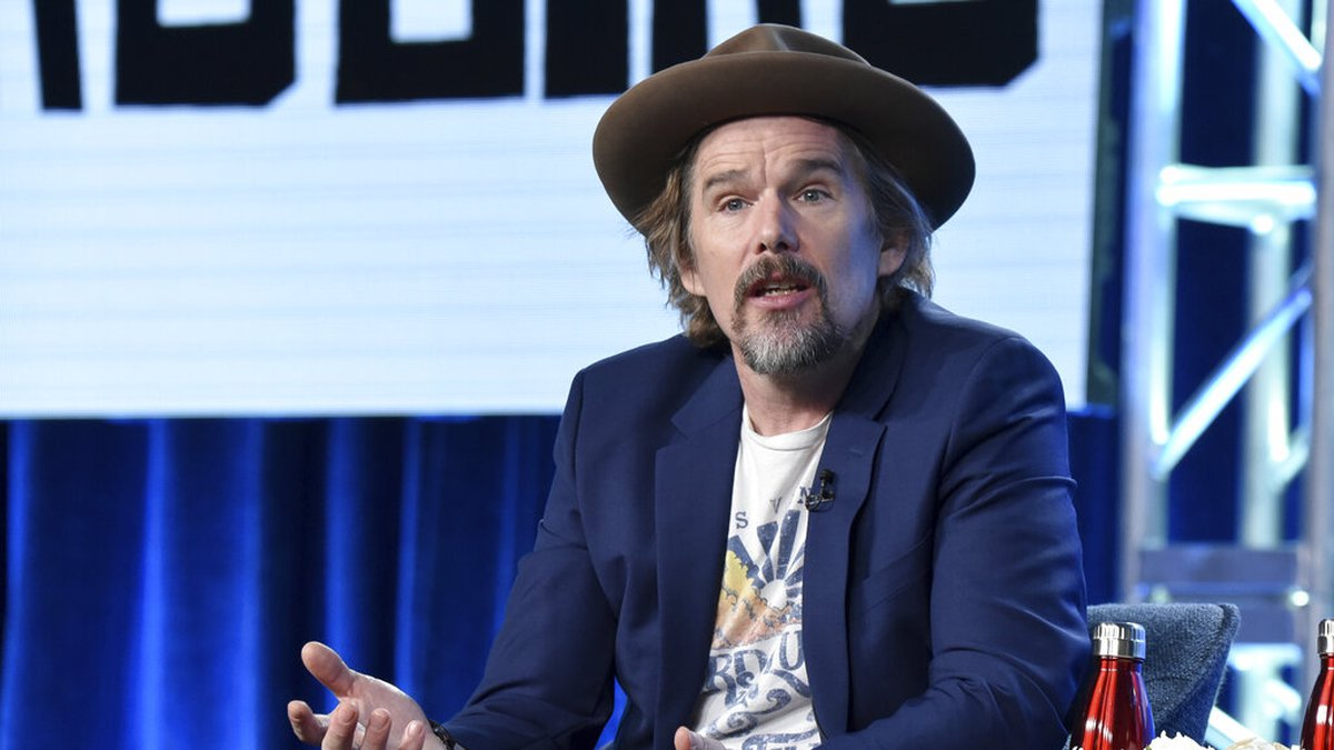 """Ethan Hawke participates in the Showtime """"The Good Lord Bird"""" panel during the Winter 2020..."""