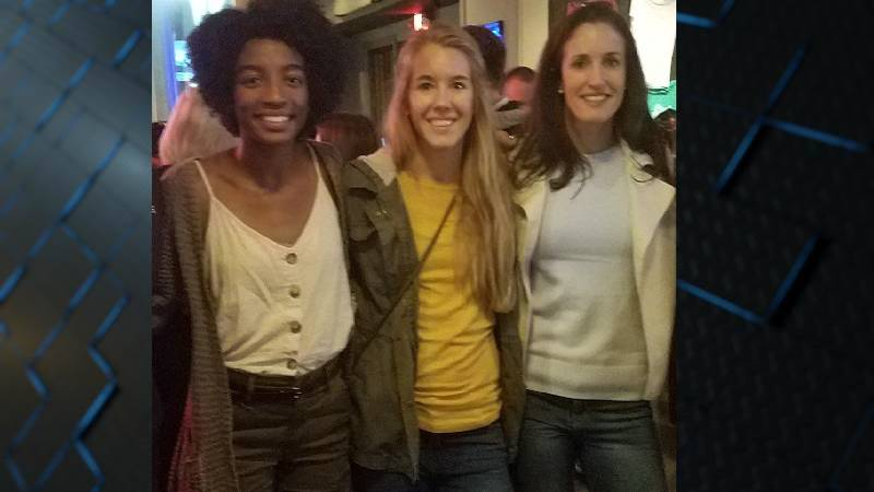 Pictured from left to right: Peyton Thomas, Brittany Perkins and Erin Hogston