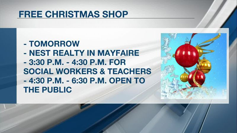 Limited time Free Christmas Shop opens for families in need