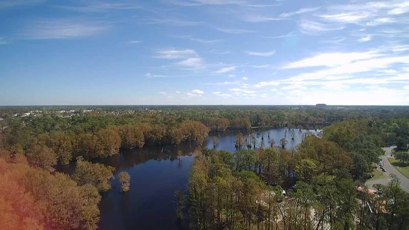 SKY TRACKER: Flying over Greenfield Lake