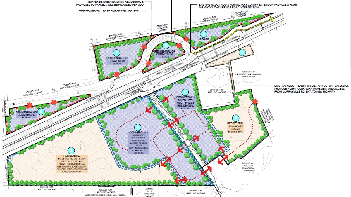 Proposed plans for nearly 63-acre master planned development in Northern New Hanover County
