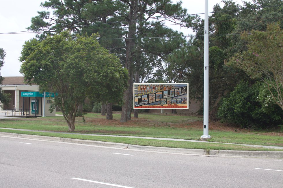 """Diagram shows location of the group's first """"Welcome to Carolina Beach"""" mural."""