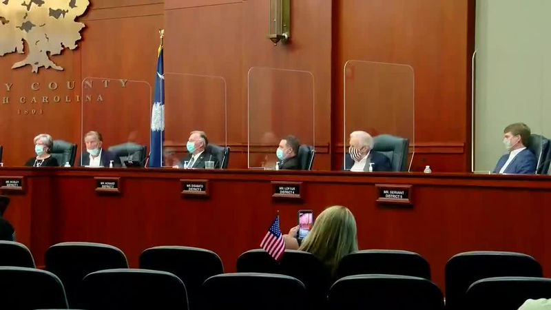 The Horry County Council voted to not extend the face mask ordinance that requires people to...