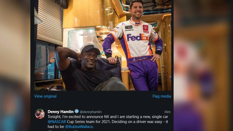 Charlotte Hornets owner and NBA Hall of Famer Michael Jordan is teaming with three-time Daytona...