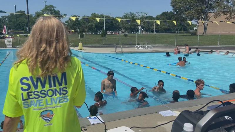 Thursday morning lesson at the Robert Strange Pool in Wilmington.