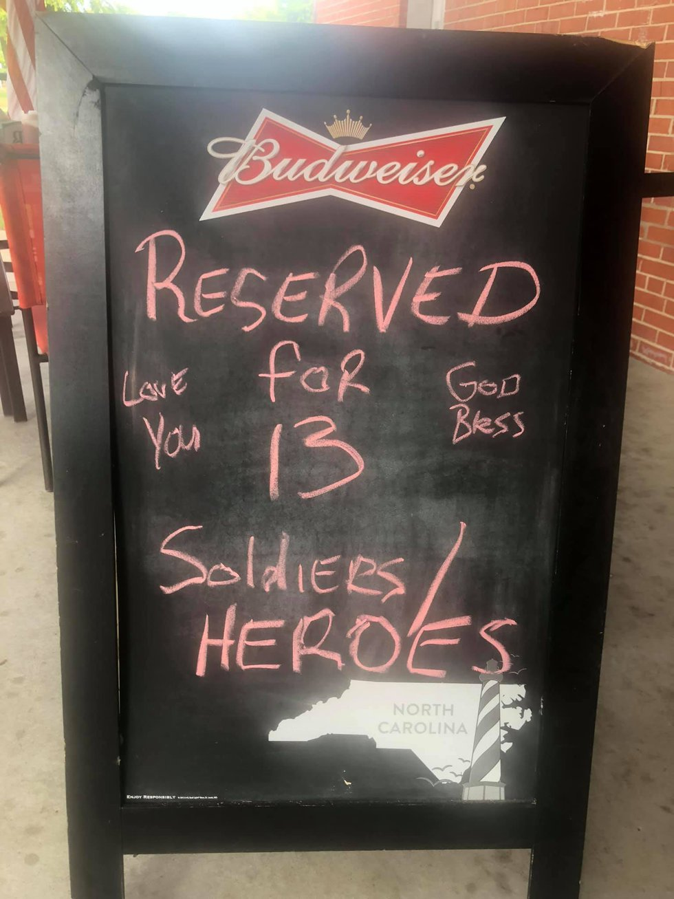 Barefoot's Sandwich Shoppe honoring service members that lost their lives this week in...