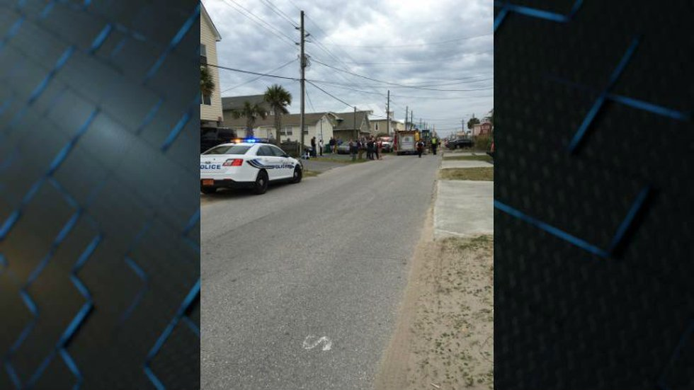 Emergency crews respond to a fire in Surf City. (Source: Aidan Westerling)