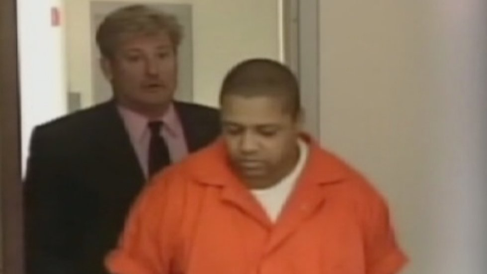 Tyrone Delgado being led into court