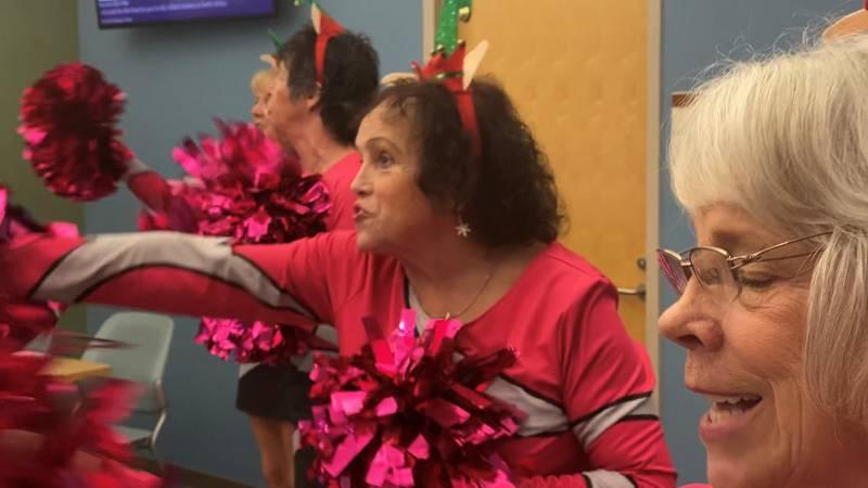 Four women make up the Brunswick County Gatorettes, a cheerleading squad for senior citizens.