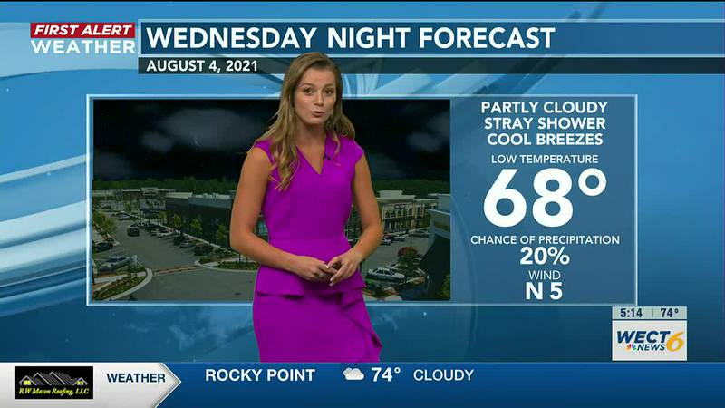 Cooler weather for southeast North Carolina