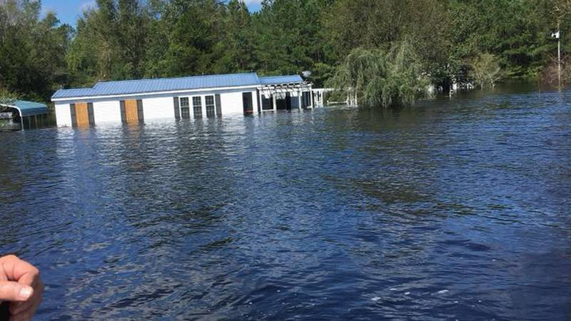 Water rescue operations are underway in Brunswick County. Source: Brunswick Co. Sheriff FB page