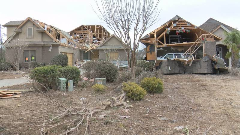 Three people died and 10 people were injured as the tornado ripped through 22 miles of...