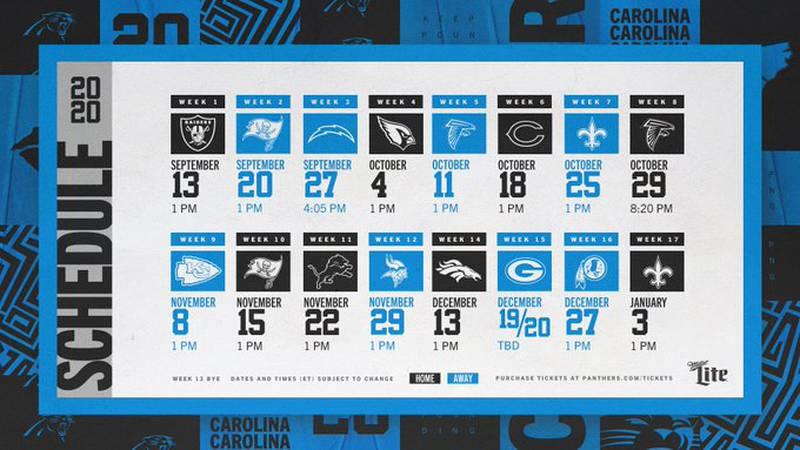 The Carolina Panthers will start their season facing the Las Vegas Raiders at Bank of America...