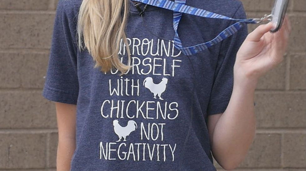 Trista Prince's mom bought these T-shirts for members of the Chicken Squad.
