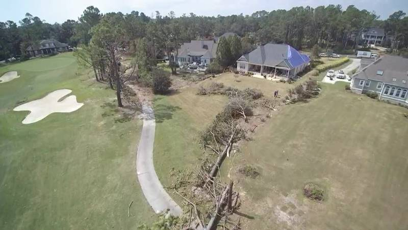 SKY TRACKER: A look over Porters Neck after tornadoes from Hurricane Dorian