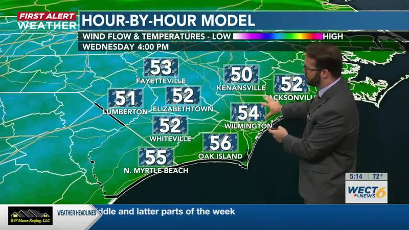 wet and wildly chilly Wednesday