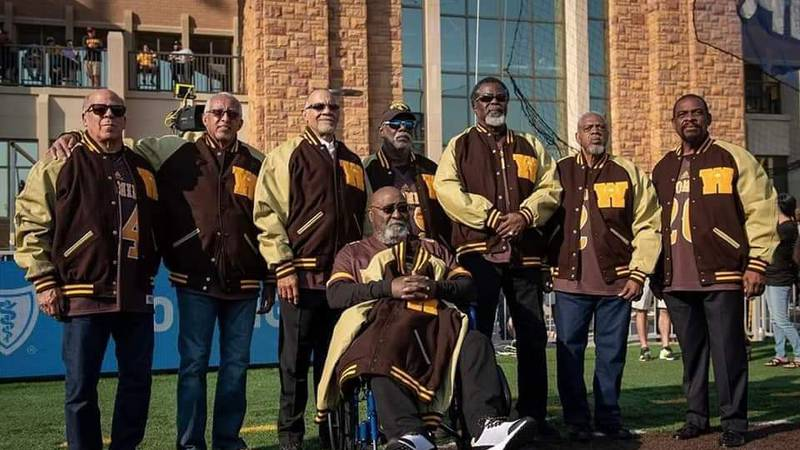 The surviving members of the 1969 University of Wyoming Black 14