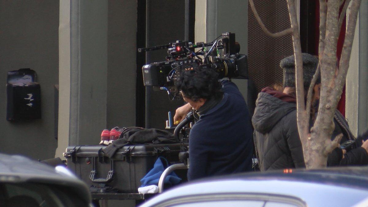 "Crews filming scenes of ""The Georgetown Project"" in Wilmington in Nov. 2019."