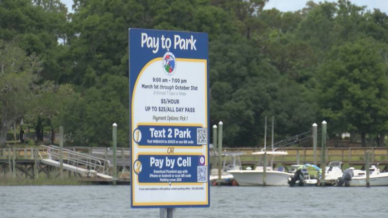 This year, paid parking signs have appeared on state-owned land in Wrightsville Beach - and...