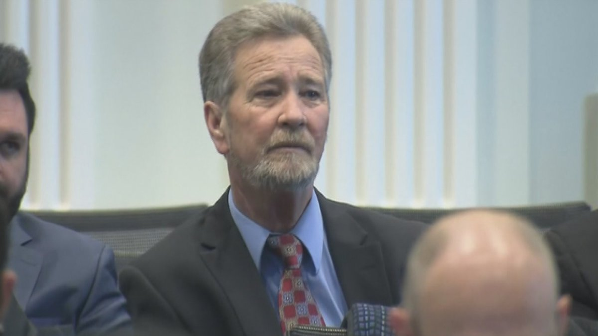 Dowless attending the North Carolina State Board of Elections' election fraud hearing in...