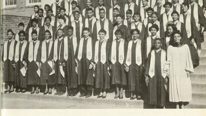 Williston Glee Club. (Source: Cape Fear Museum copy of 1968 yearbook)