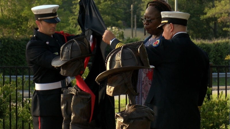 Tuesday evening the Wilmington Fire Department unveiled a bronzed fire helmet and boots in...