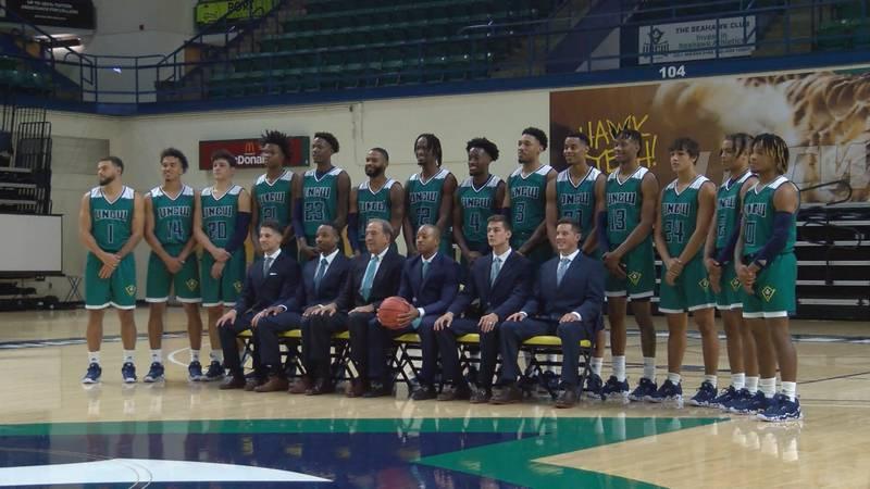2021-22 UNCW Men's Basketball Team