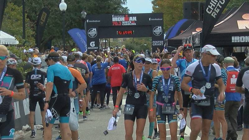 FILE -- An image from a previous Ironman triathlon held in the Port City in 2019.